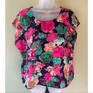 Anthropologie Maeve Komal Silk Floral Blouse